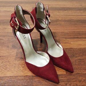 velvet tipped heels